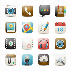 Social media and chat application icons white background