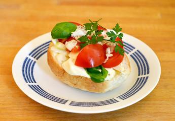 Veggi Snack with Tomato and Mozarella