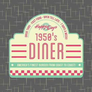 1950s Diner Style Logo Design