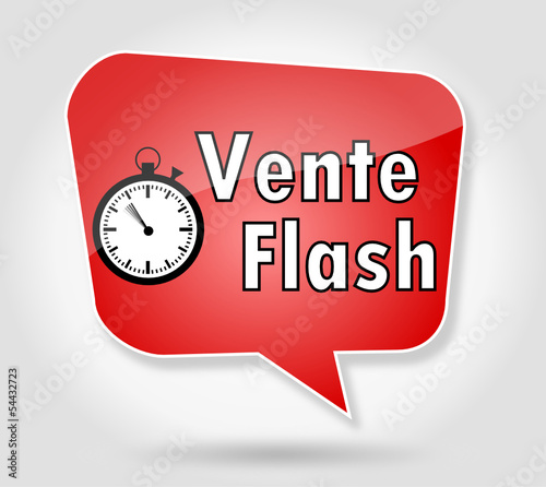 Bulle vente flash rouge fichier vectoriel libre de droits sur l - Vente flash champagne ...