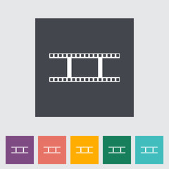 Film flat icon.