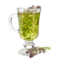 Fototapete - Tea with thyme