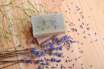 Fototapete - Soaps and lavender