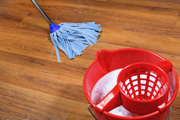 mopping of parquet floors