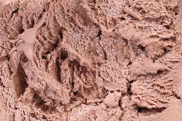 Chocolate ice cream macro detailed texture.