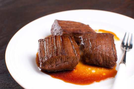 Soy sauce marinated beef
