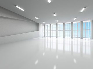The empty large hall