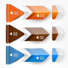 Colorful bookmarks and arrows  for text