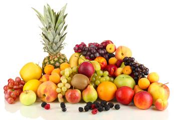 Still life of fruit isolated on white