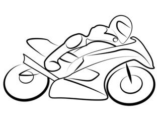 Fototapete - Motorrad Rennen Tribal