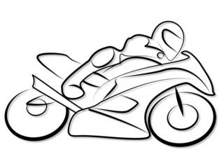 Fotomurales - Motorrad Rennen Tribal