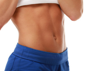 Abdominal muscles of youg trained female model