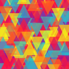 Autocollant pour porte ZigZag Vector of abstract triangle background