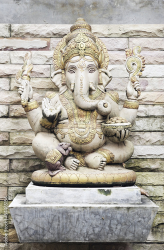 Wall mural Ganesha God of successful