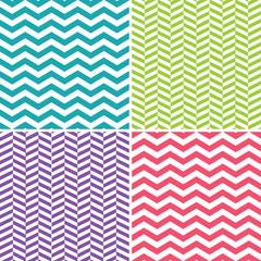 Set of zigzag (chevron) patterns