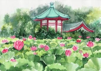 Lotus lake and Pagoda