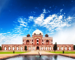Photo sur Aluminium Delhi India Delhi Humayun tomb mausoleum. Indian architecture monument
