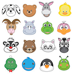 animal faces icons
