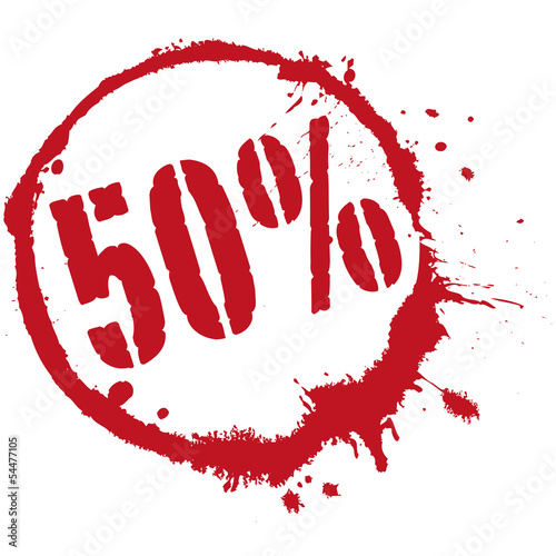 50 50 prozent sale reduzierung stock image and for Koch 50 prozent