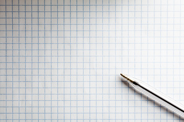 Squared Math Exercise Notebook Page with Pen