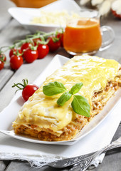 Lasagna, traditional italian dish