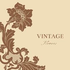 vintage; background; floral; ornament; baroque