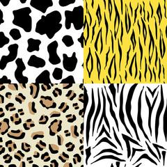 Set of animals seamless pattern
