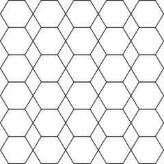Iillustration of seamless black-and-white geometric pattern