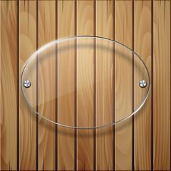 Wooden texture with glass framework.