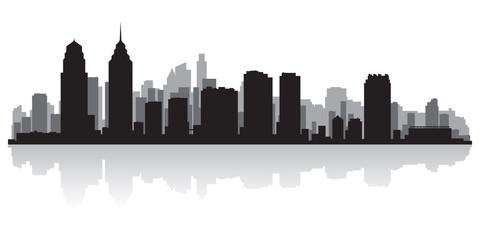 Philadelphia city skyline silhouette