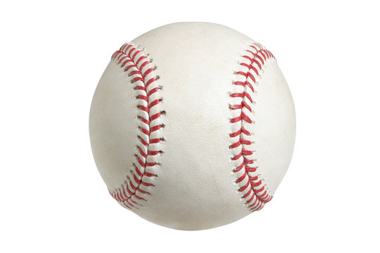 Baseball isolated on white with clipping path