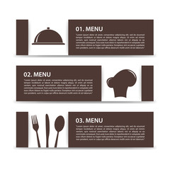 three options menu