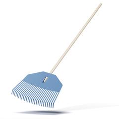 Modern blue rake