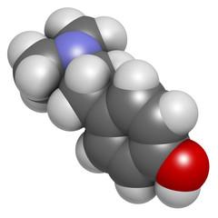 Hordenine (dimethyltyramine) stimulant molecule