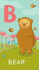 Letter B, animal ABC