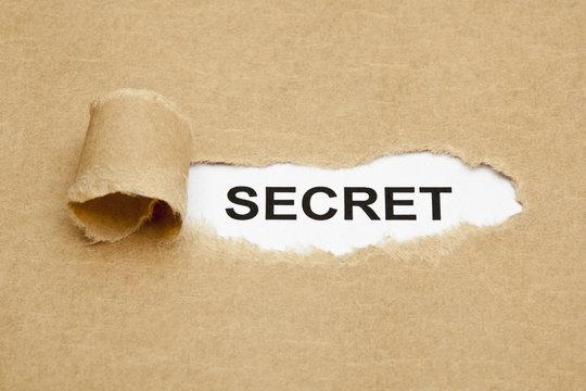 Word Secret Brown Paper Concept