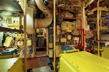Diesel engine old submarine