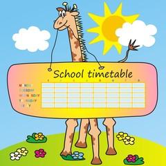 Timetable-giraffe
