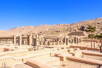 Scenic view of the Xerxes palace in Persepolis, Shiraz, Iran.