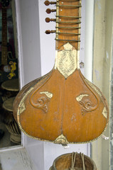 antique indian musical string instrument, India