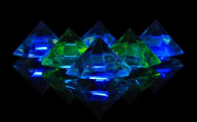 Diamonds on dark color background