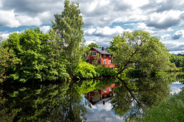 Ulvshyttan in the Swedish folklore district Dalecarlia