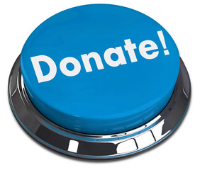 Donate round button 3d