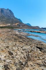 Balos bay. View from Gramvousa Island, Crete in Greece