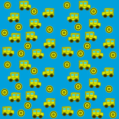 seamless pattern with toy cars for children