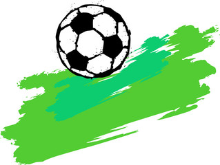 soccer football illustration, free copy space