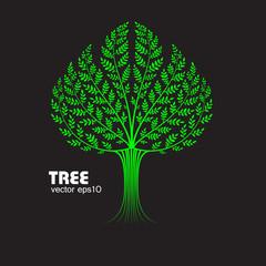 decorative tree on black background