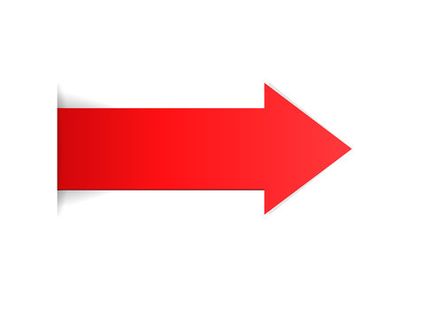 The red arrow