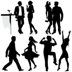 Several people are dancing on the party