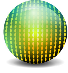 Kugel mit Muster gold grün